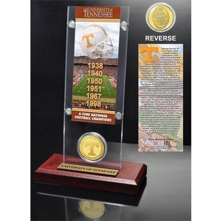 University of Tennessee 6- time National Champions Ticket and Bronze Coin Desk Top Acrylic