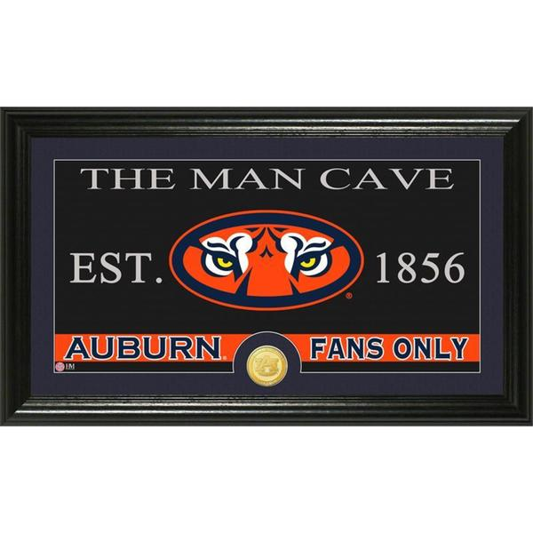 Auburn University 'Man Cave' Bronze Coin Panoramic Photo Mint