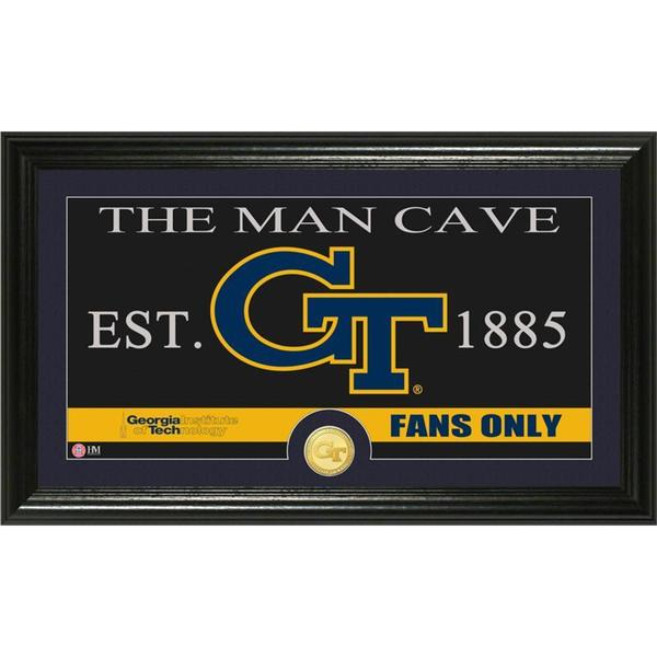 Georgia Tech University 'Man Cave' Bronze Coin Panoramic Photo Mint