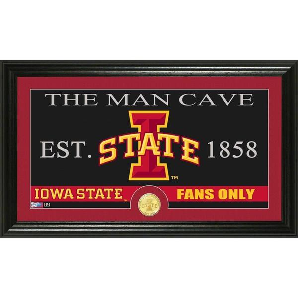 Iowa State University 'Man Cave' Bronze Coin Panoramic Photo Mint