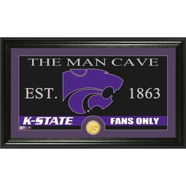 Kansas State University 'Man Cave' Bronze Coin Panoramic Photo Mint