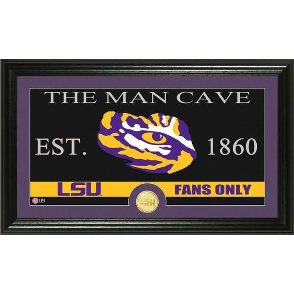 Louisiana State University 'Man Cave' Bronze Coin Panoramic Photo Mint