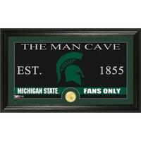 Michigan State University 'Man Cave' Bronze Coin Panoramic Photo Mint