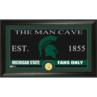 Michigan State University 'Man Cave' Bronze Coin Panoramic Photo Mint