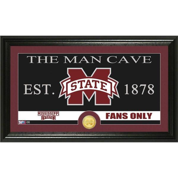 Mississippi State University 'Man Cave' Bronze Coin Panoramic Photo Mint