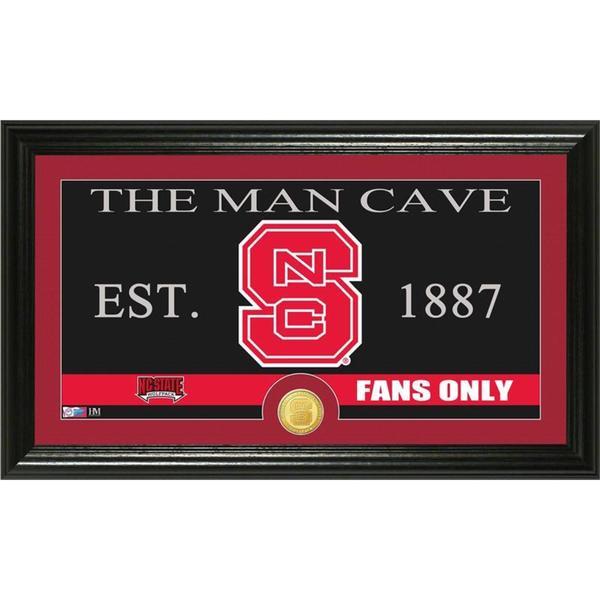 North Carolina State University 'Man Cave' Bronze Coin Panoramic Photo Mint