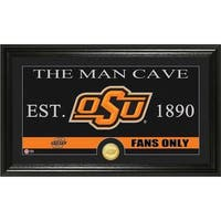 Oklahoma State University 'Man Cave' Bronze Coin Panoramic Photo Mint
