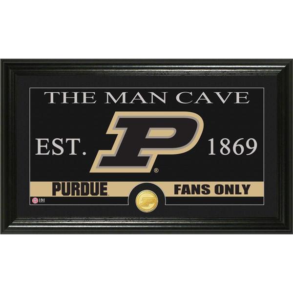 Purdue University 'Man Cave' Bronze Coin Panoramic Photo Mint