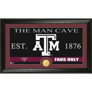 Texas A and M University 'Man Cave' Bronze Coin Panoramic Photo Mint
