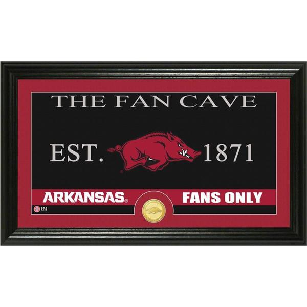 University of Arkansas 'Fan Cave' Bronze Coin Panoramic Photo Mint