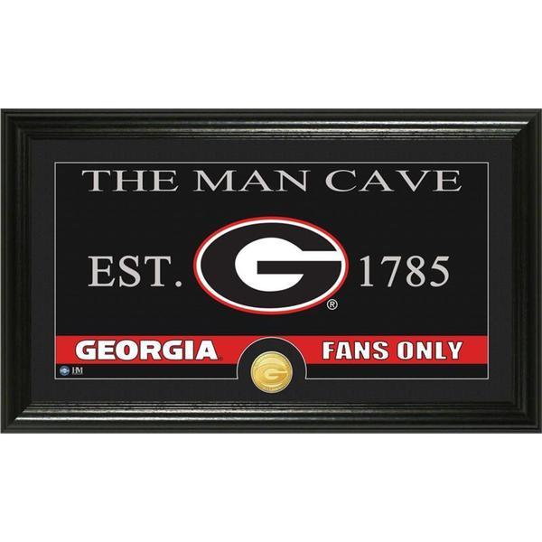 University of Georgia 'Man Cave' Bronze Coin Panoramic Photo Mint