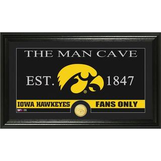 University of Iowa 'Man Cave' Bronze Coin Panoramic Photo Mint