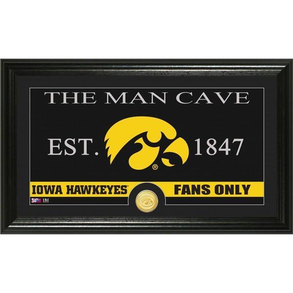 University of Iowa 'Man Cave' Bronze Coin Panoramic Photo Mint