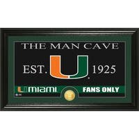 University of Miami 'Man Cave' Bronze Coin Panoramic Photo Mint