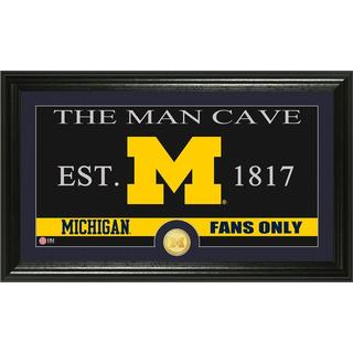 University of Michigan 'Man Cave' Bronze Coin Panoramic Photo Mint