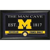 University of Michigan 'Man Cave' Bronze Coin Panoramic Photo Mint