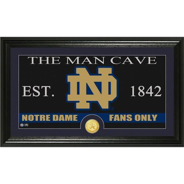 University of Notre Dame 'Man Cave' Bronze Coin Panoramic Photo Mint