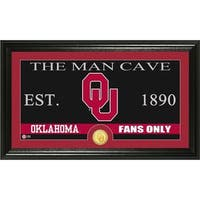 University of Oklahoma 'Man Cave' Bronze Coin Panoramic Photo Mint