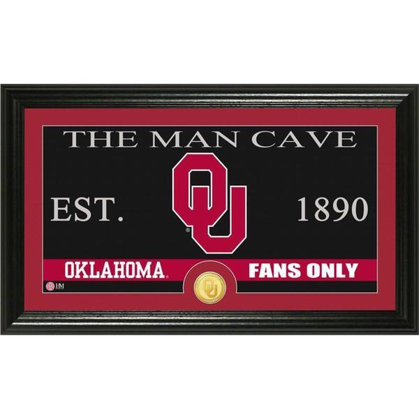 University of Oklahoma 'Man Cave' Bronze Coin Panoramic Photo Mint