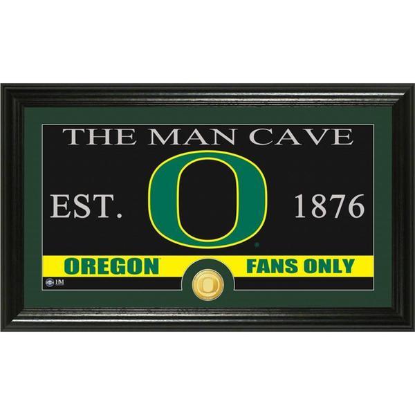 University of Oregon 'Man Cave' Bronze Coin Panoramic Photo Mint