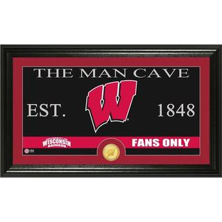 University of Wisconsin 'Man Cave' Bronze Coin Panoramic Photo Mint