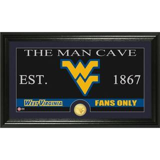 West Virginia University 'Man Cave' Bronze Coin Panoramic Photo Mint