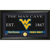 West Virginia University 'Man Cave' Bronze Coin Panoramic Photo Mint