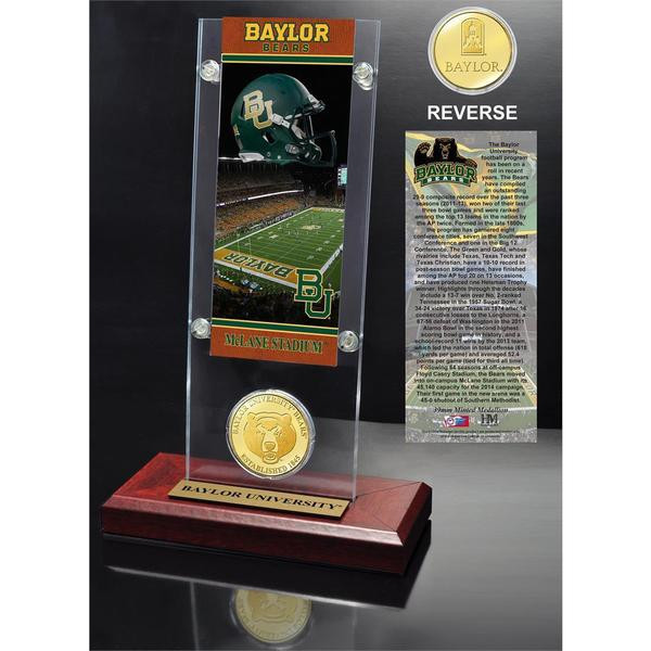 Baylor University Ticket and Bronze Coin Desk Top Acrylic