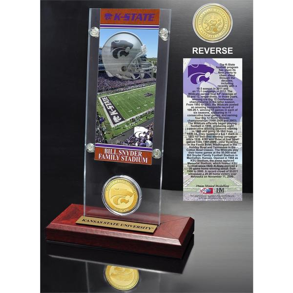 Kansas State University Ticket and Bronze Coin Desk Top Acrylic