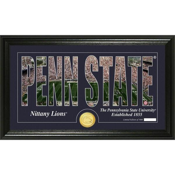 Penn State University 'Silhouette' Bronze Coin Panoramic Photo Mint