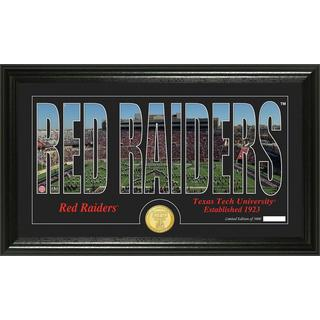 Texas Tech University 'Silhouette' Bronze Coin Panoramic Photo Mint