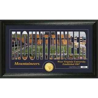 University of West Virginia 'Silhouette' Bronze Coin Panoramic Photo Mint