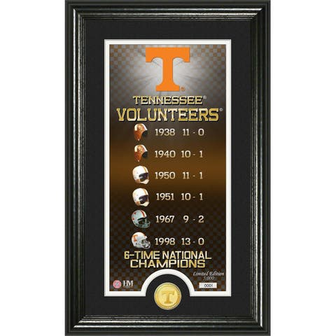 University of Tennessee 'Legacy' Supreme Bronze Coin Panoramic Photo Mint - multi-color
