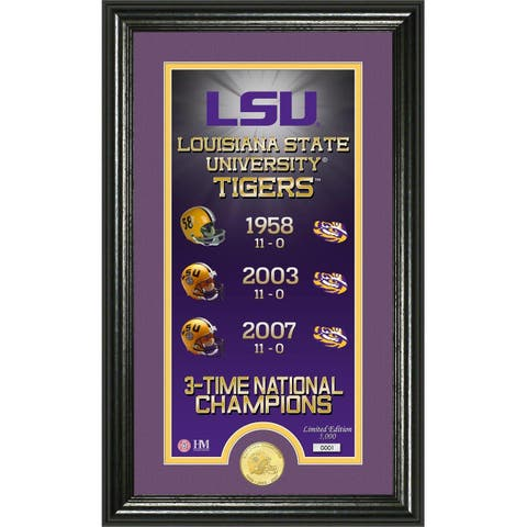 Louisiana State University 'Legacy' Supreme Bronze Coin Panoramic Photo Mint - multi-color