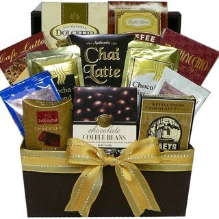 Coffee Cappuccino and Latte Lovers Gourmet Food Basket