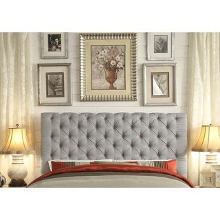 Moser Bay Furniture Calia Gray Tufted Upholstery Queen Headboard