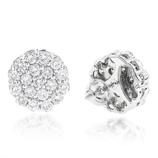 Luxurman Oversizes 14k Gold 4ct TDW Diamond Cluster Stud Earrings (G-H, VS1-VS2)
