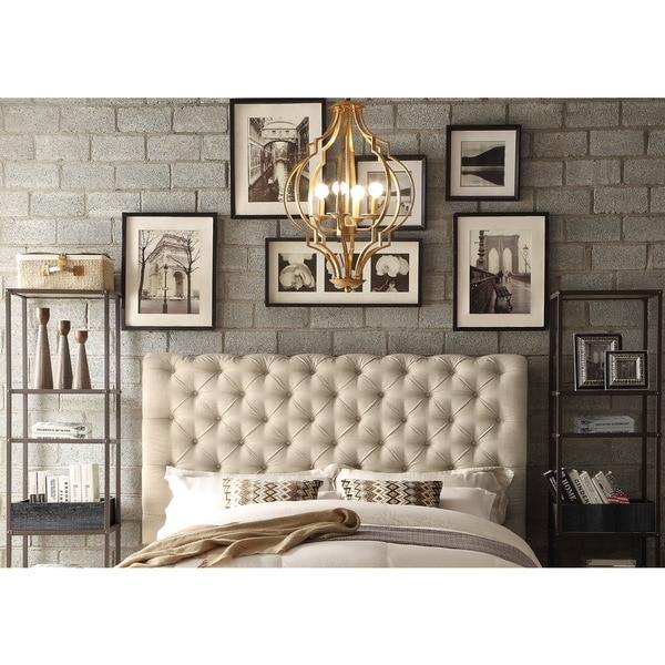 Moser Bay Furniture Calia Beige Tufted Upholstery Queen Headboard