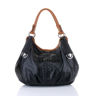 Vicenzo Leather Lisa Italian Leather Hobo Handbag