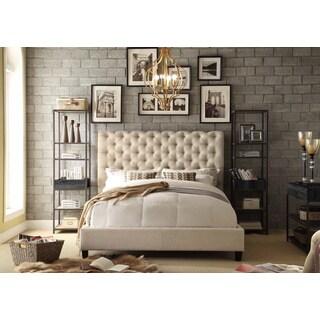 Moser Bay Furniture Calia Beige Tufted Upholstery Queen Platform Bed