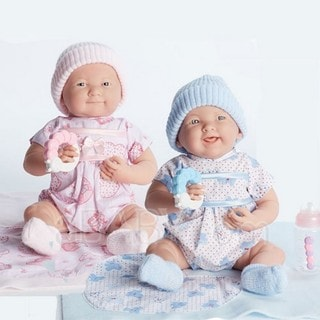 JC Toys Cuddly Twin Dolls Gift Set