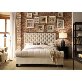 Moser Bay Furniture Calia Beige Tufted Upholstery Bed