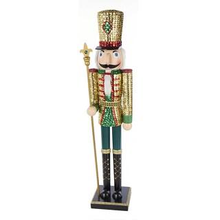 Kurt Adler 32-inch Wooden Sequins Nutcracker King