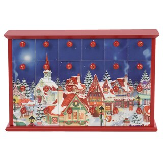 Kurt Adler 12.4-inch Advent Calendar with 24 Empty Drawers