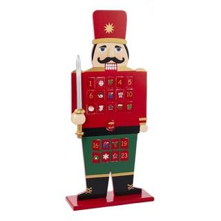 Kurt Adler 22-inch Wooden Advent Calendar Nutcracker