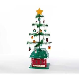 Kurt Adler 17-inch Christmas Tree Calendar with Ornaments