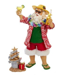 Kurt Adler 10-inch Beach Santa (2-piece Set)