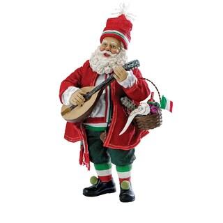Kurt Adler 10-inch Musical Italian Santa