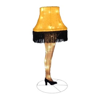 Kurt Adler 40-inch Leg Lamp Tinsel Light-Up Lawn Decor