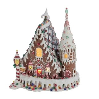 Kurt Adler 13-inch Claydough Gingerbread Inn with C7 Bulb